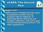 ecapa the second year