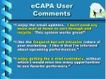 ecapa user comments