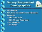 survey respondent demographics