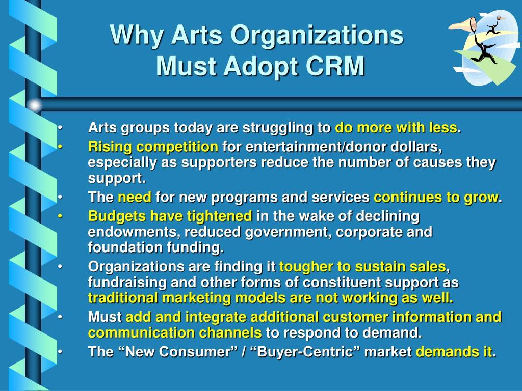Why Arts Organizations