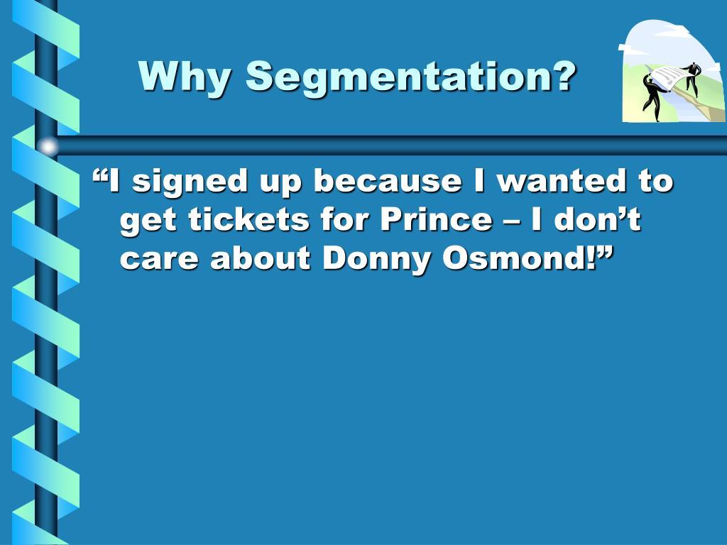 Why Segmentation?