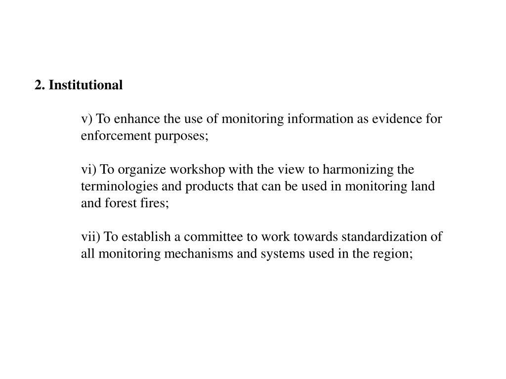 2. Institutional