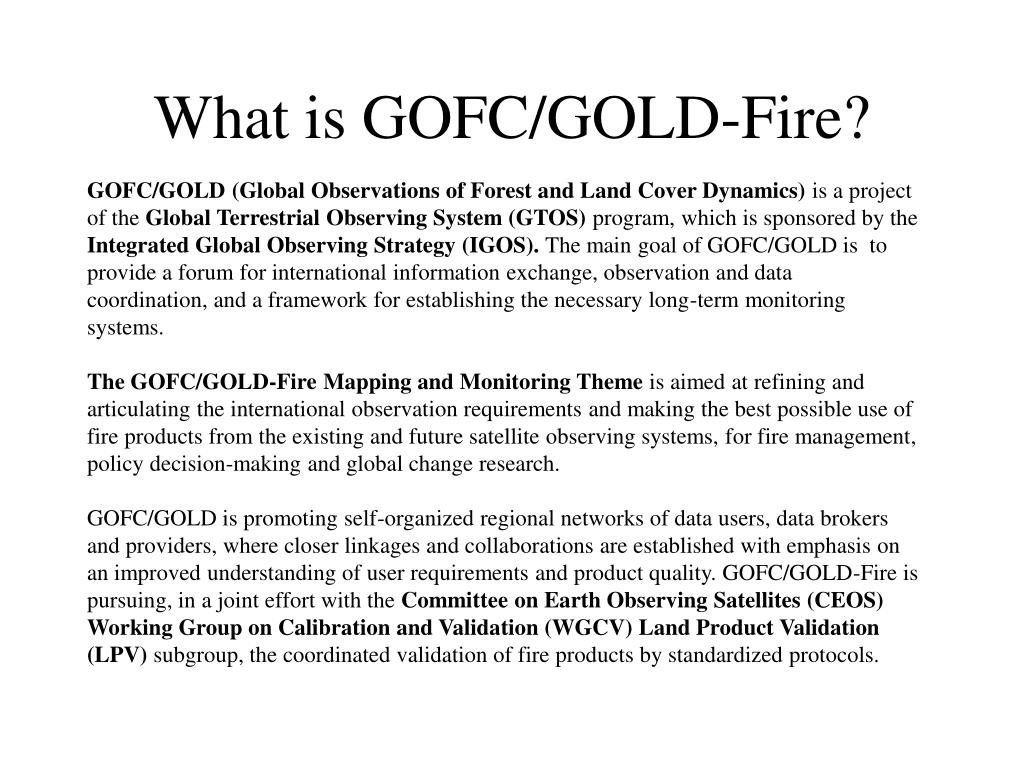 What is GOFC/GOLD-Fire?
