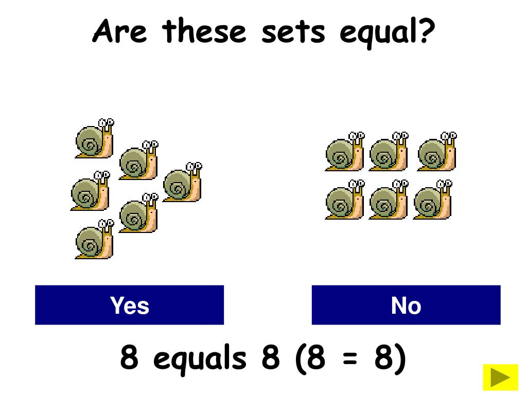 Are these sets equal?