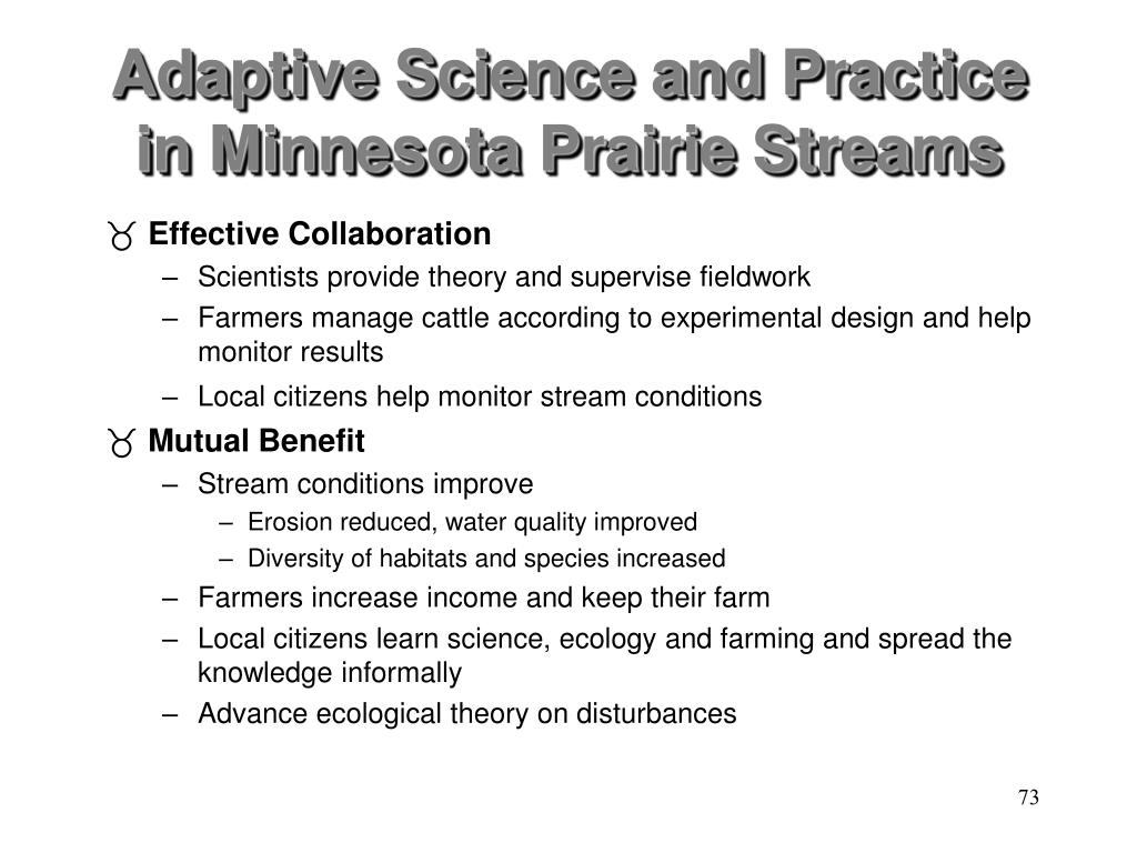 Adaptive Science and Practice in Minnesota Prairie Streams