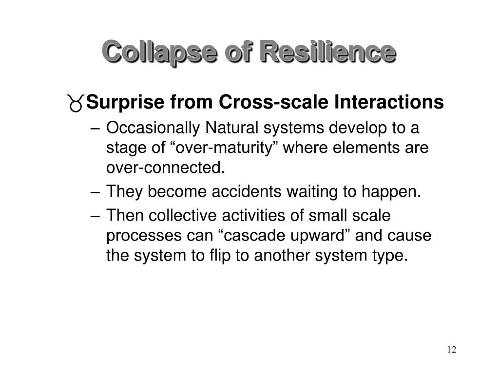 Collapse of Resilience