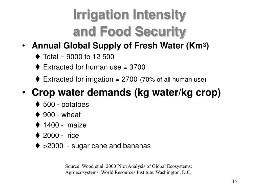 Irrigation Intensity