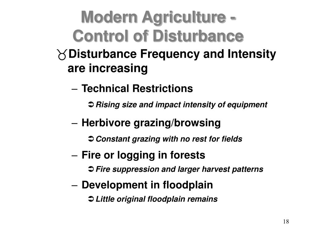 Disturbance Frequency and Intensity are increasing