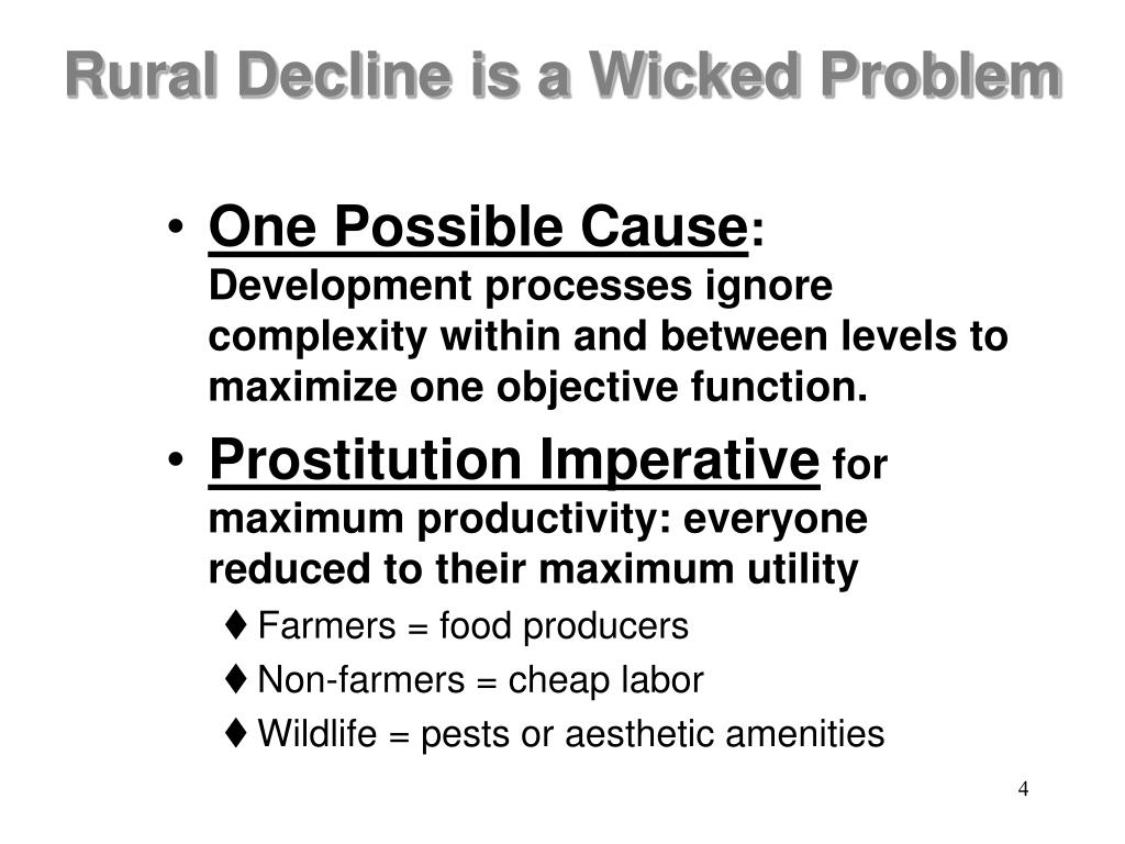 Rural Decline is a Wicked Problem