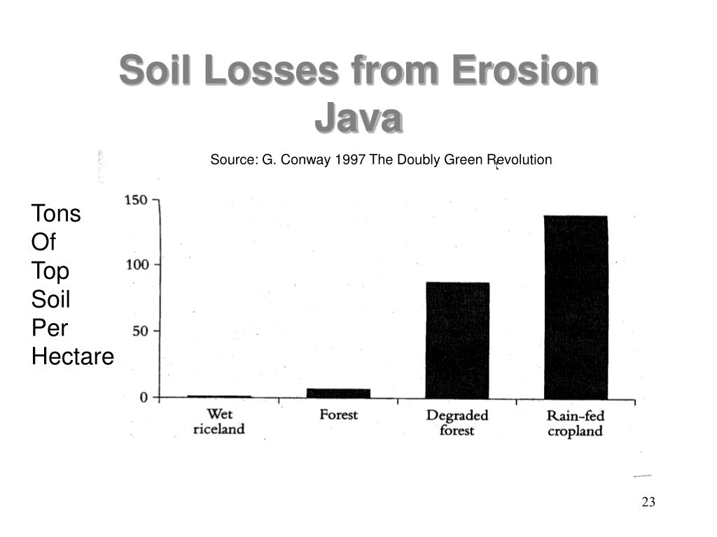 Soil Losses from Erosion