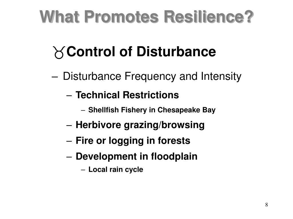 Control of Disturbance