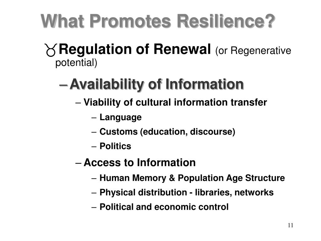 Regulation of Renewal