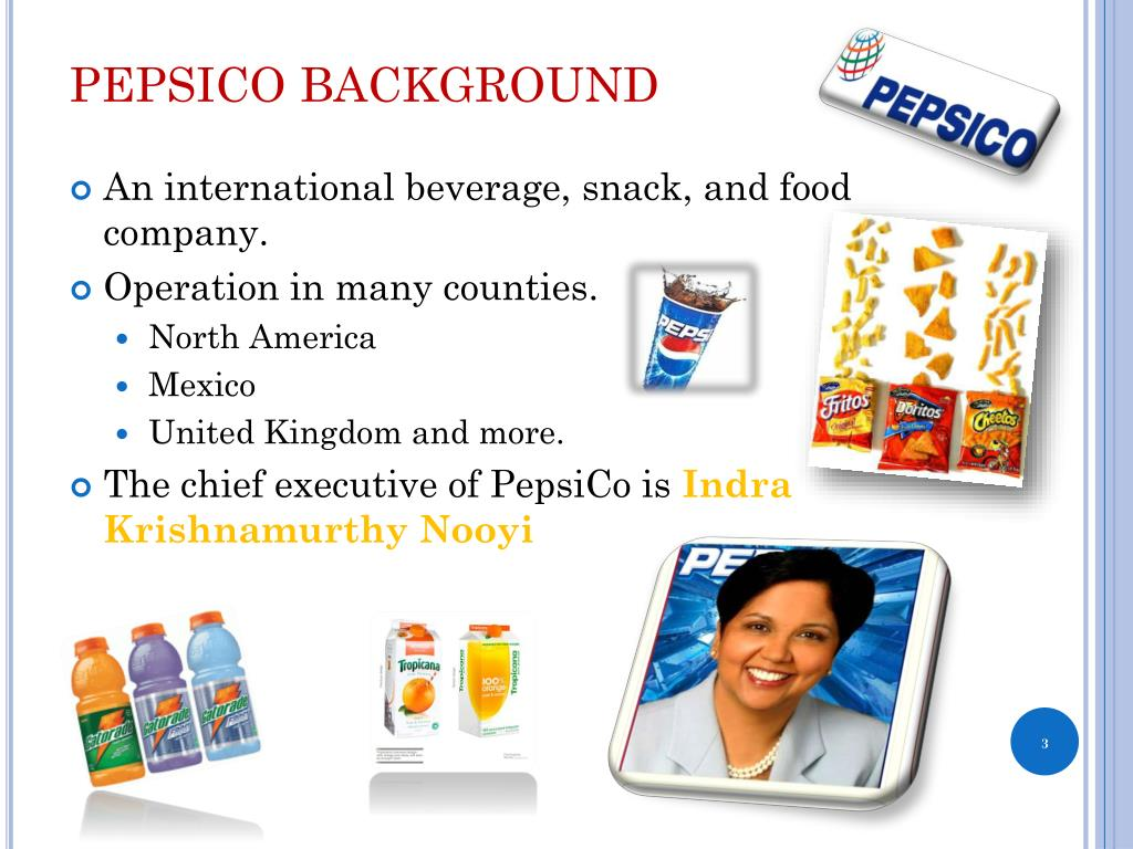 PEPSICO BACKGROUND