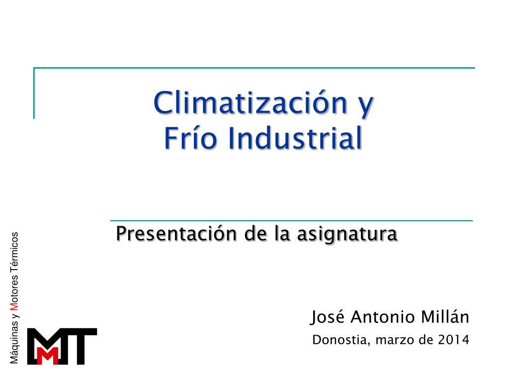 Climatización y
