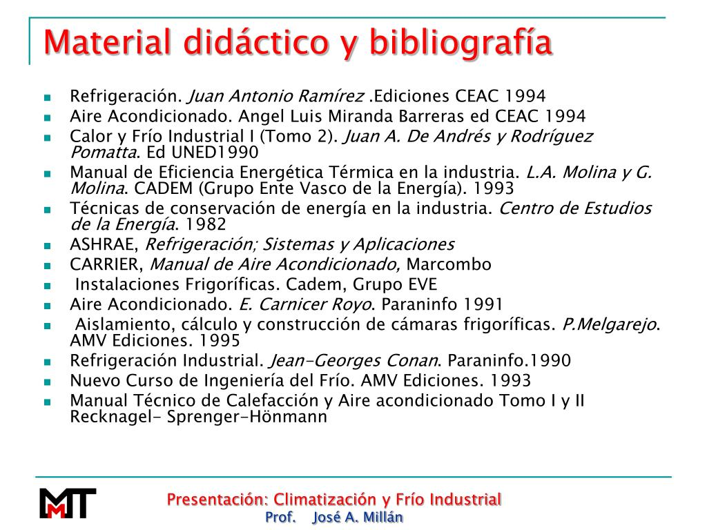 Material didáctico y bibliografía
