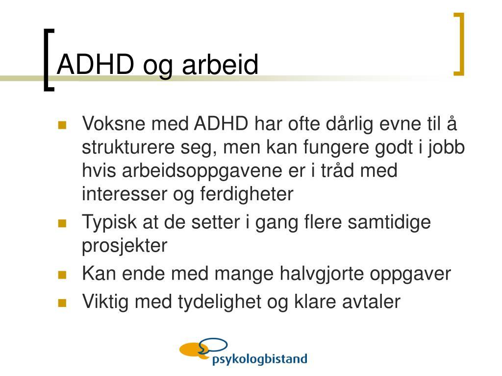 ADHD og arbeid