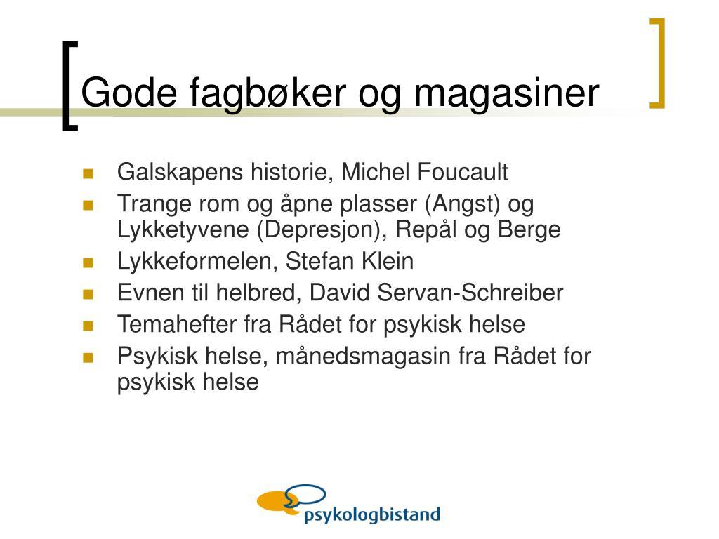 Gode fagbøker og magasiner