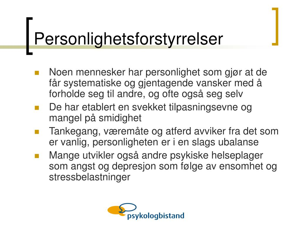 Personlighetsforstyrrelser