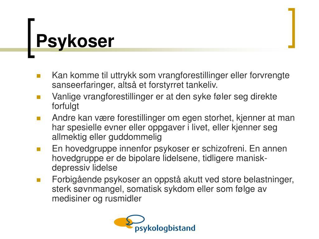 Psykoser