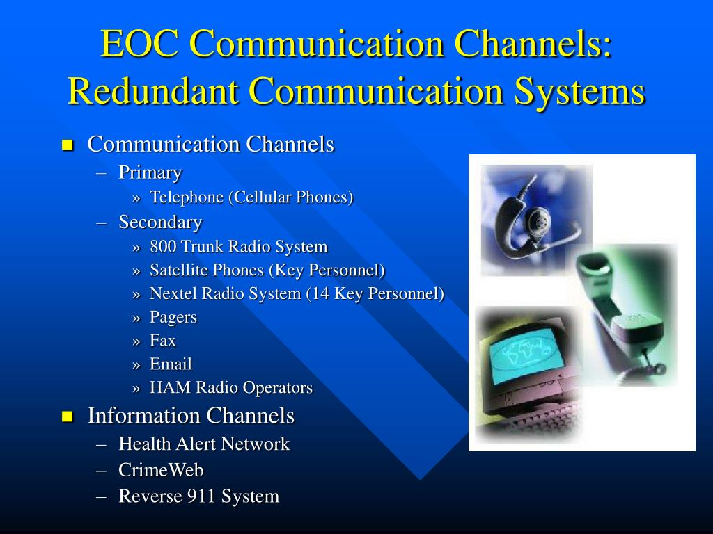 EOC Communication Channels: Redundant Communication Systems