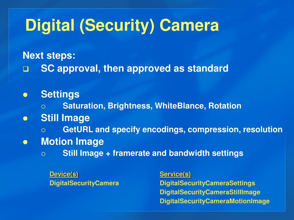 Digital (Security) Camera