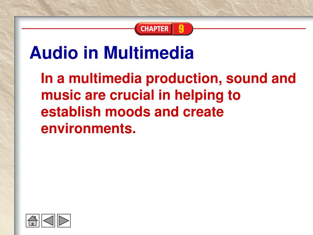 Audio in Multimedia