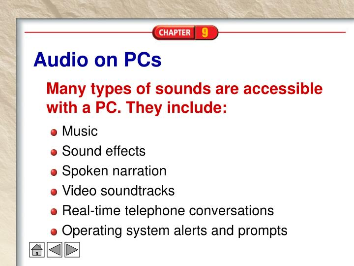 Audio on pcs