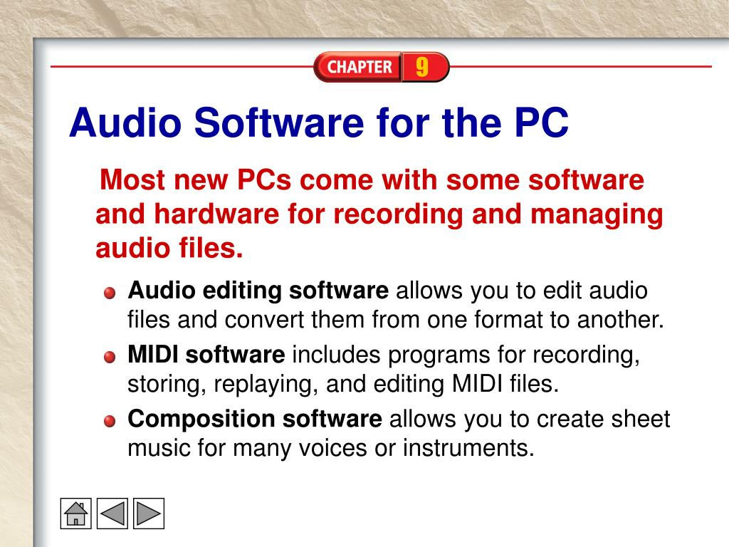 Audio Software for the PC
