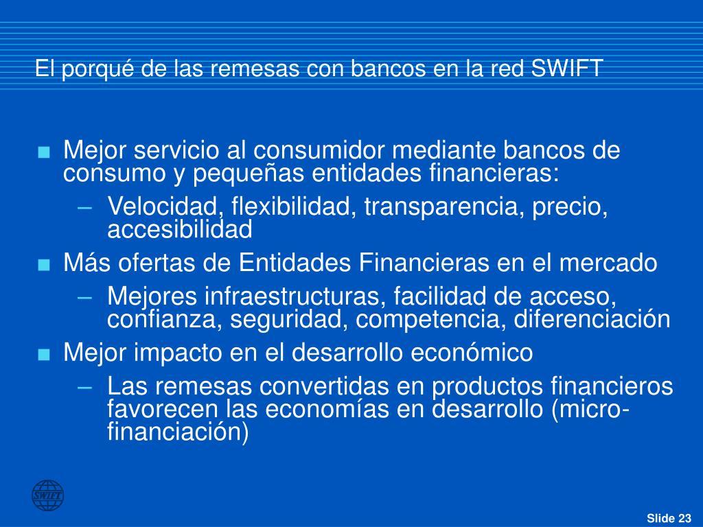 El porqué de las remesas con bancos en la red SWIFT