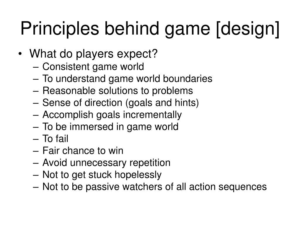 Principles behind game [design]