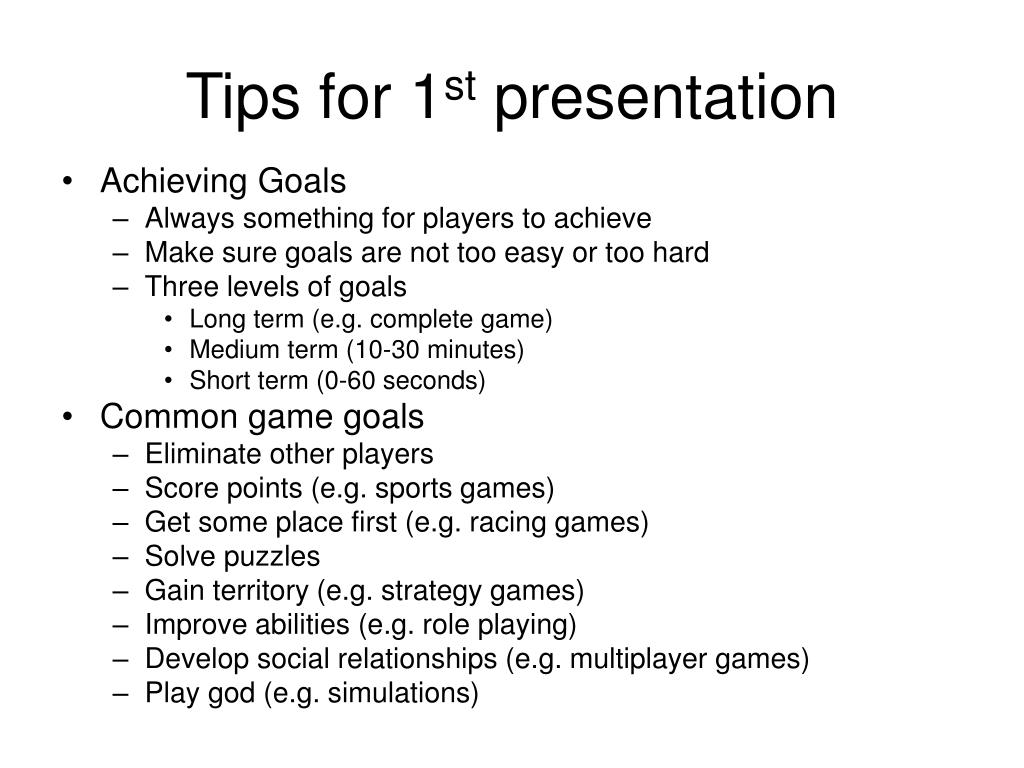 Tips for 1