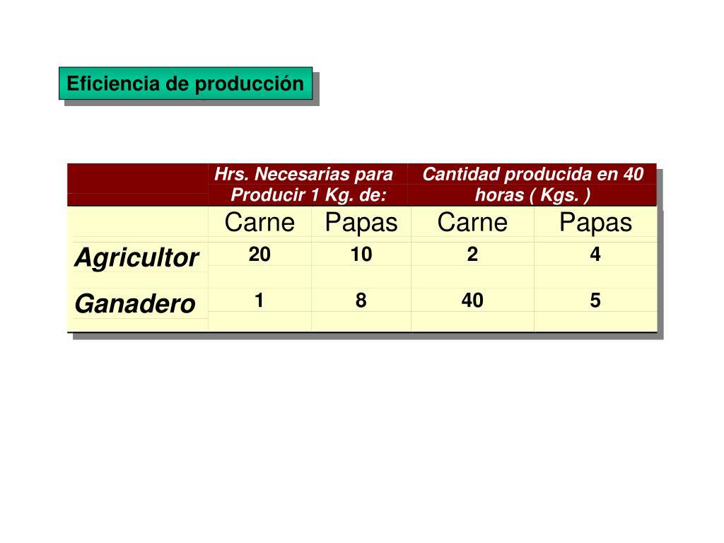 Eficiencia de producción