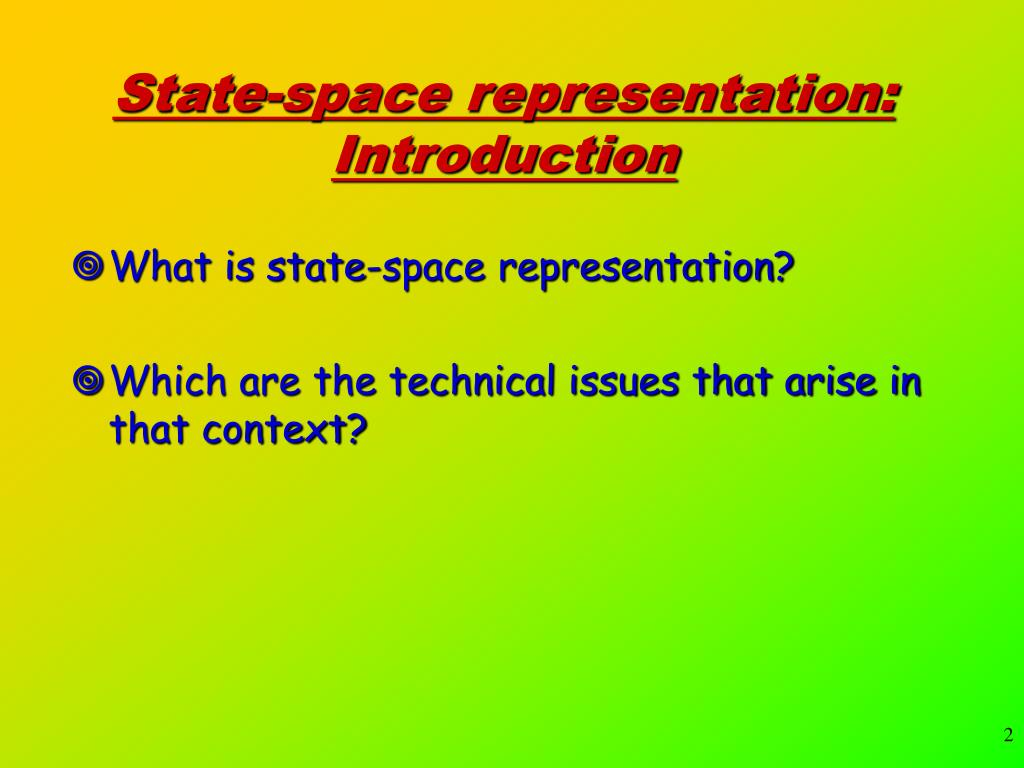 State-space representation: