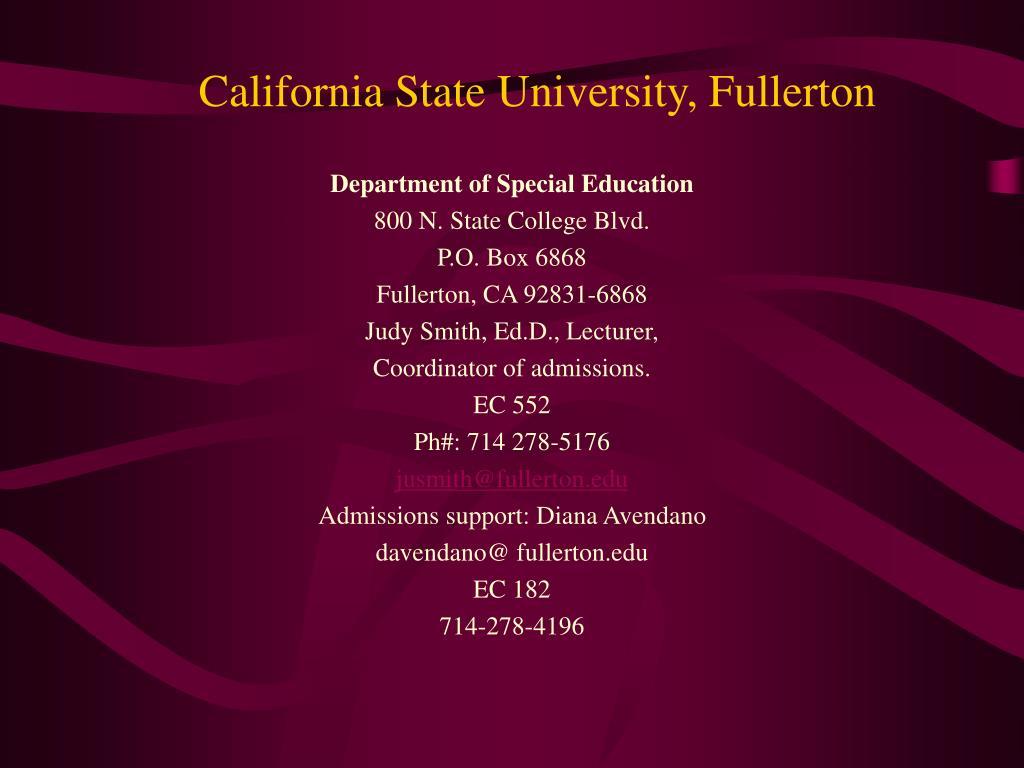 California State University, Fullerton