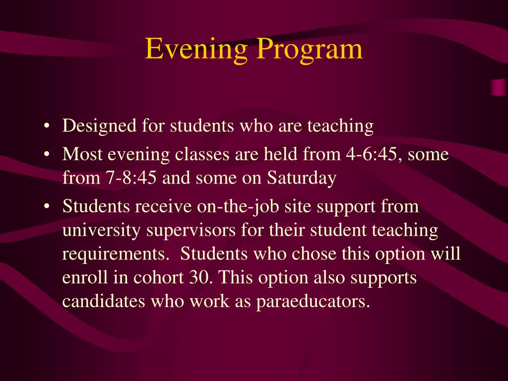 Evening Program