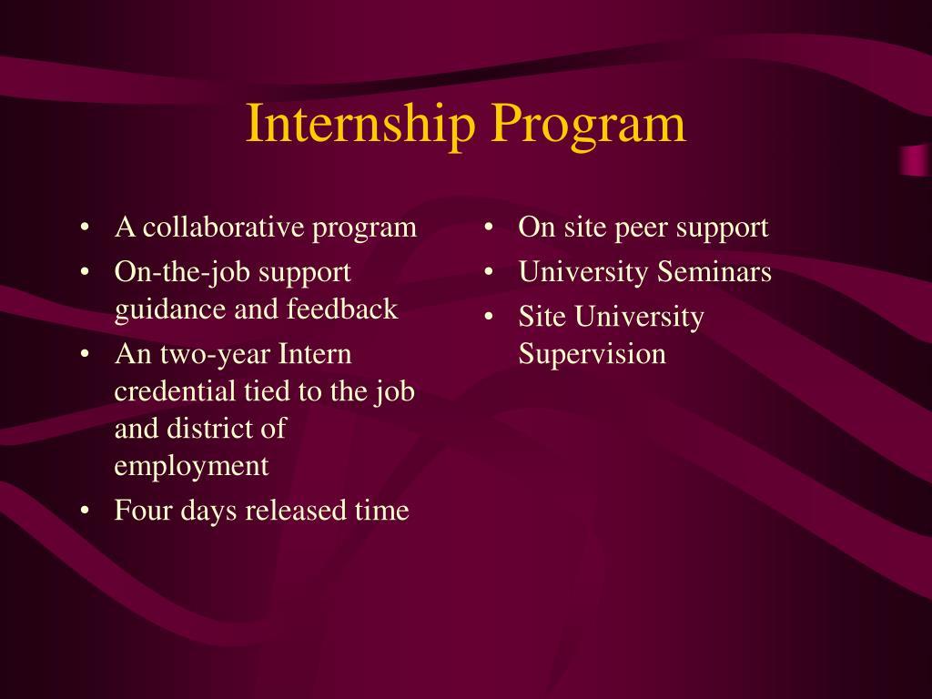 A collaborative program