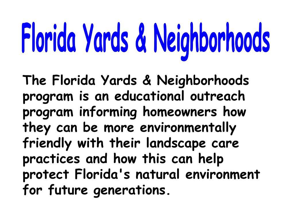Florida Yards & Neighborhoods