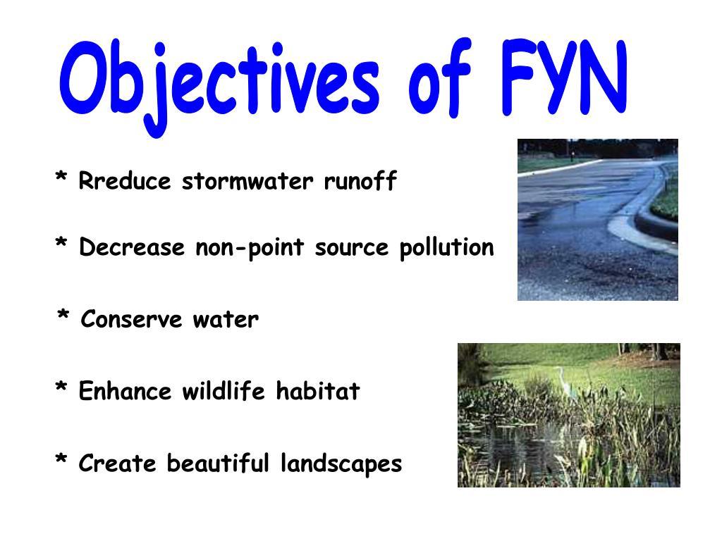 Objectives of FYN