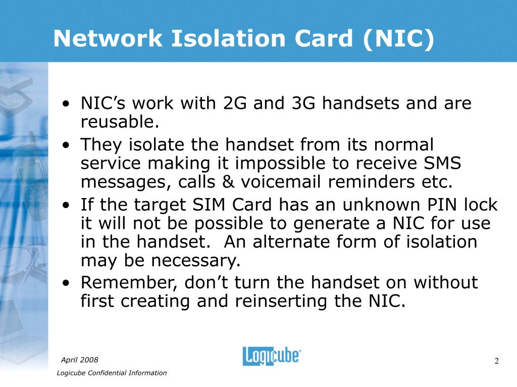 Network Isolation Card (NIC)