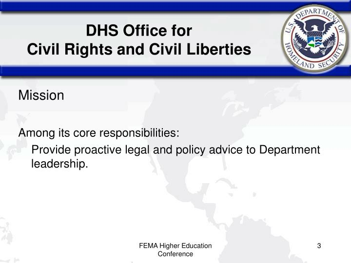 Dhs office for civil rights and civil liberties
