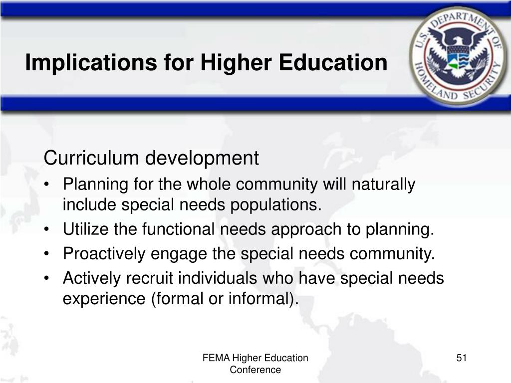 Implications for Higher Education