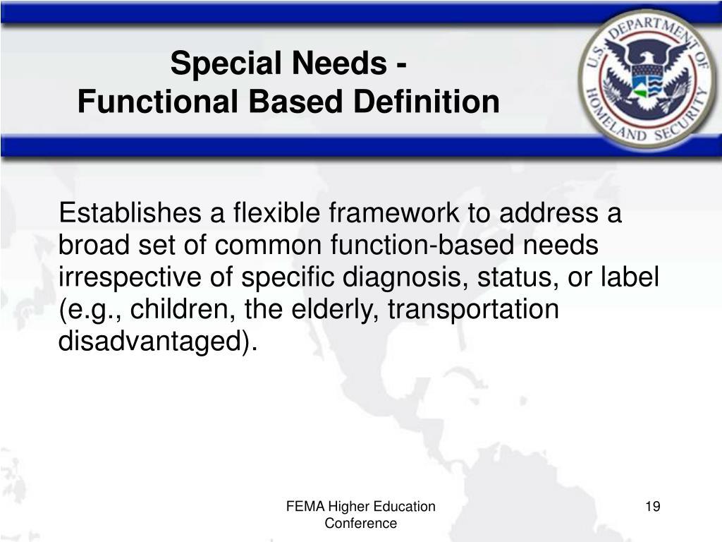 Special Needs -