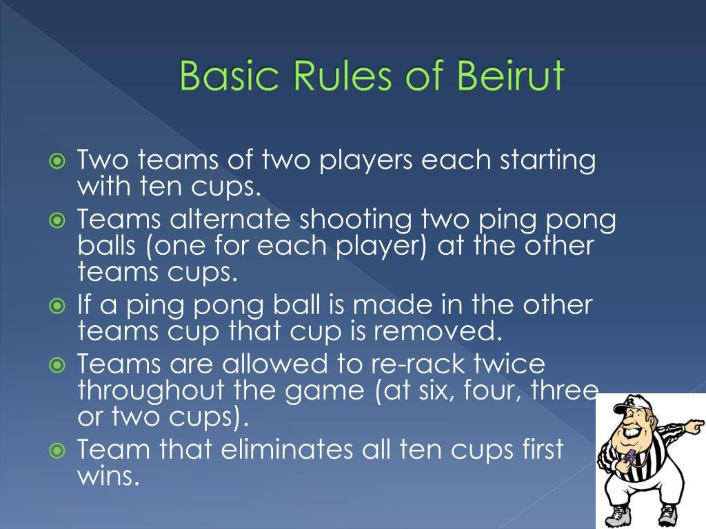 Basic Rules of Beirut