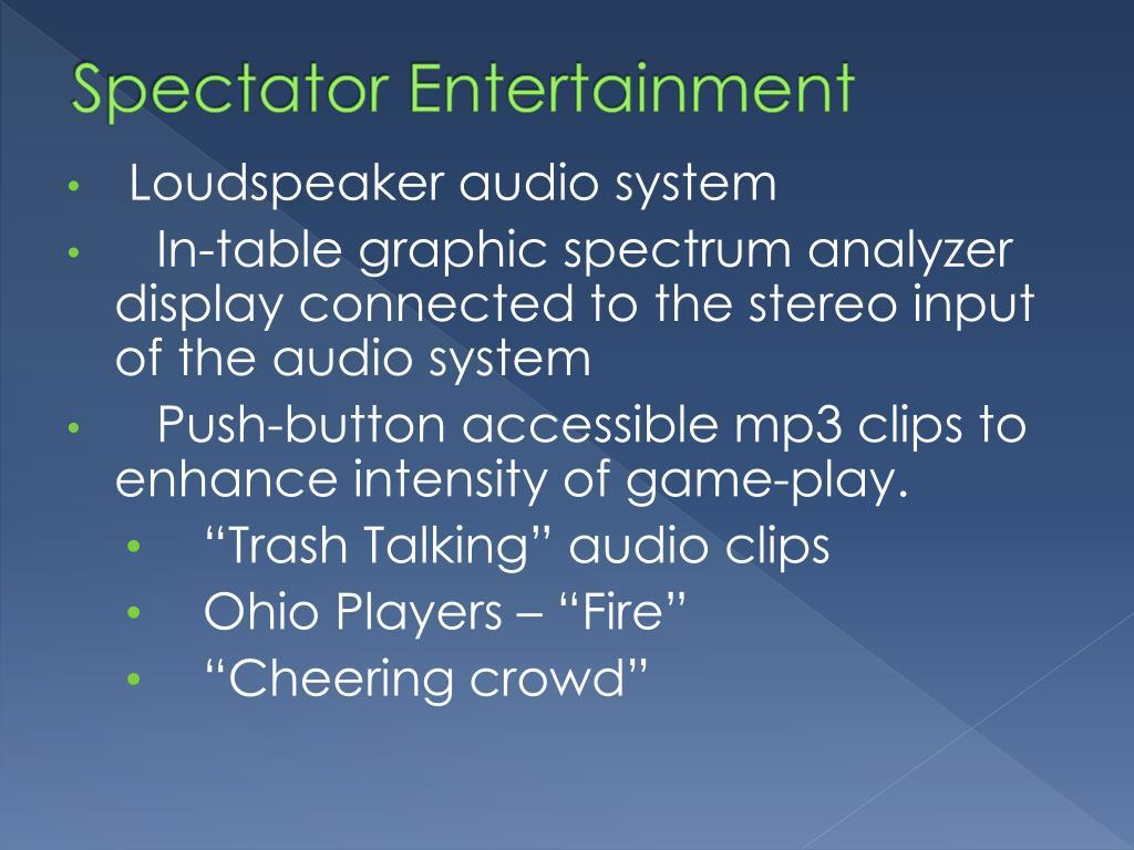 Spectator Entertainment