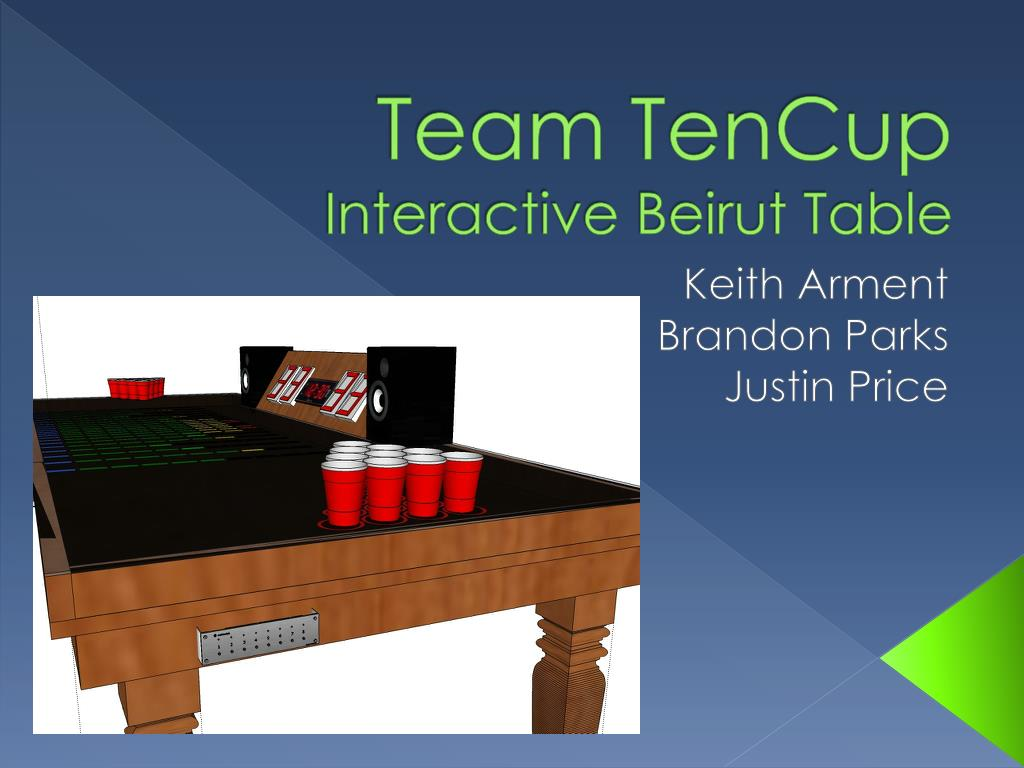 team tencup interactive beirut table