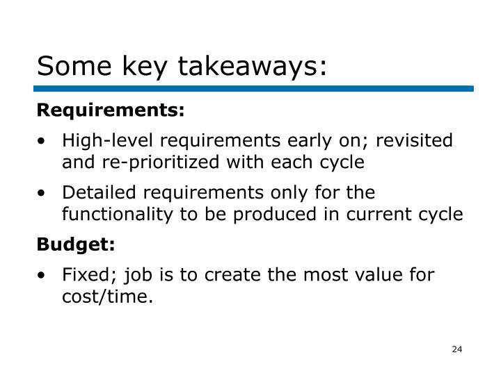 Some key takeaways:
