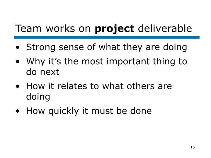 Team works on