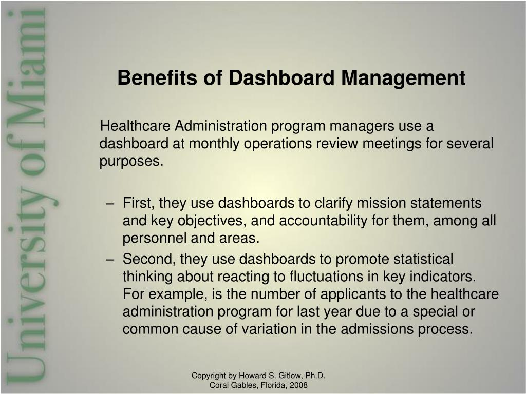 Benefits of Dashboard Management
