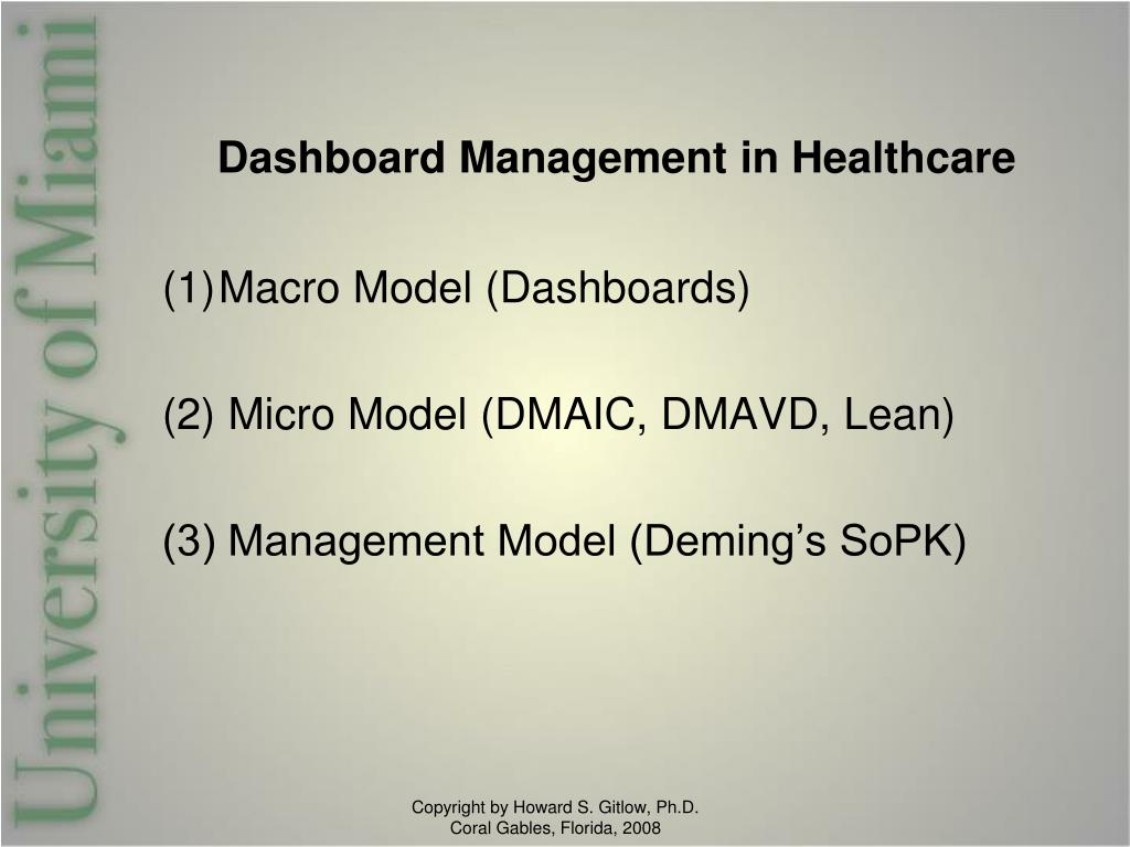 Dashboard Management in Healthcare