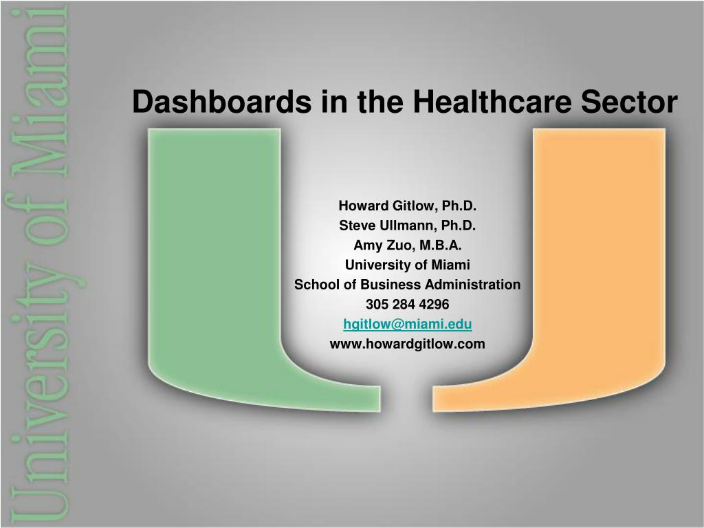 Dashboards in the Healthcare Sector